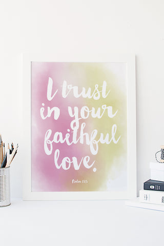 Printable - faithful love