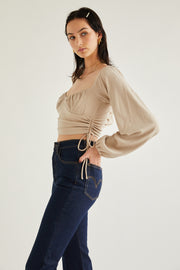 Passport to Paris Top - Beige