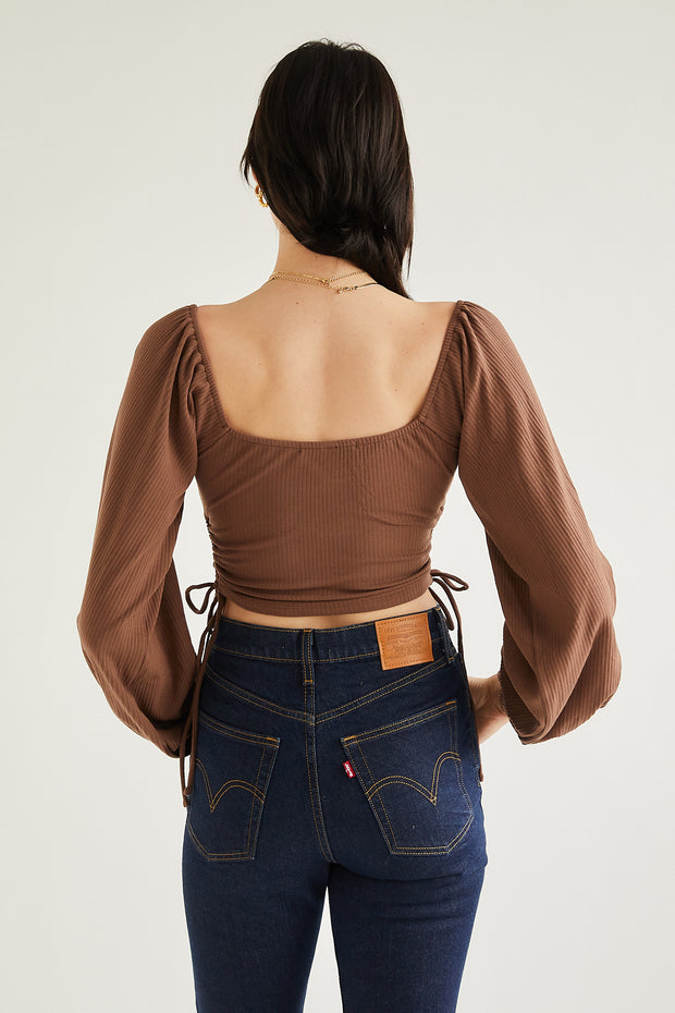 Passport to Paris Top - Brown