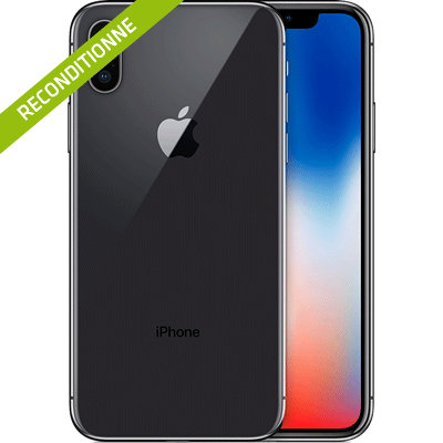 iPhone X gris sideral reconditionne