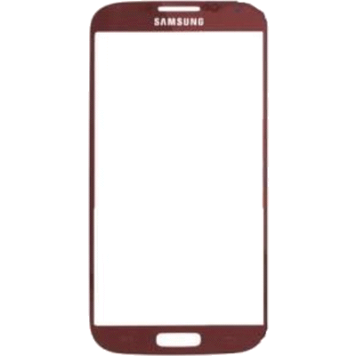 Vitre Galaxy S4 rouge GT-I9505