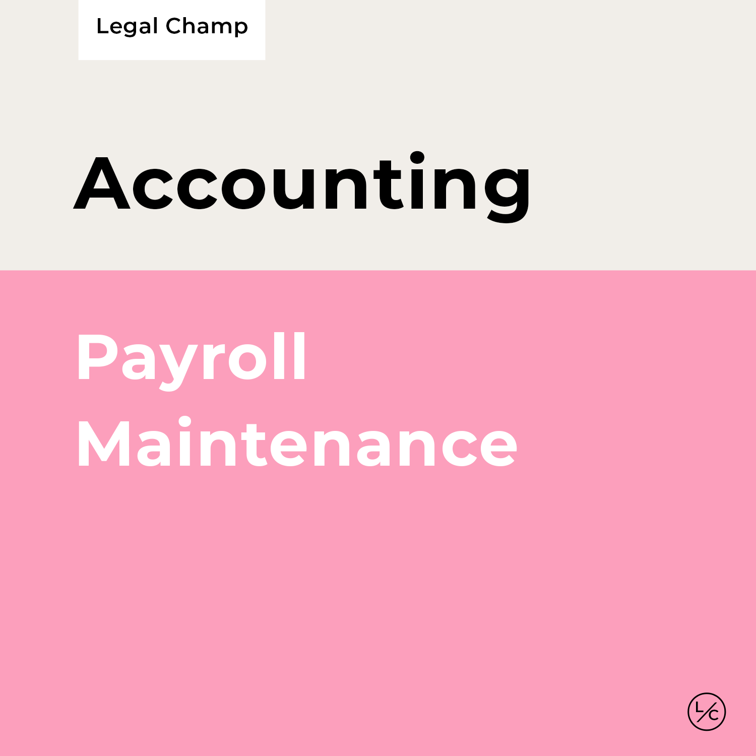 Payroll Maintenance
