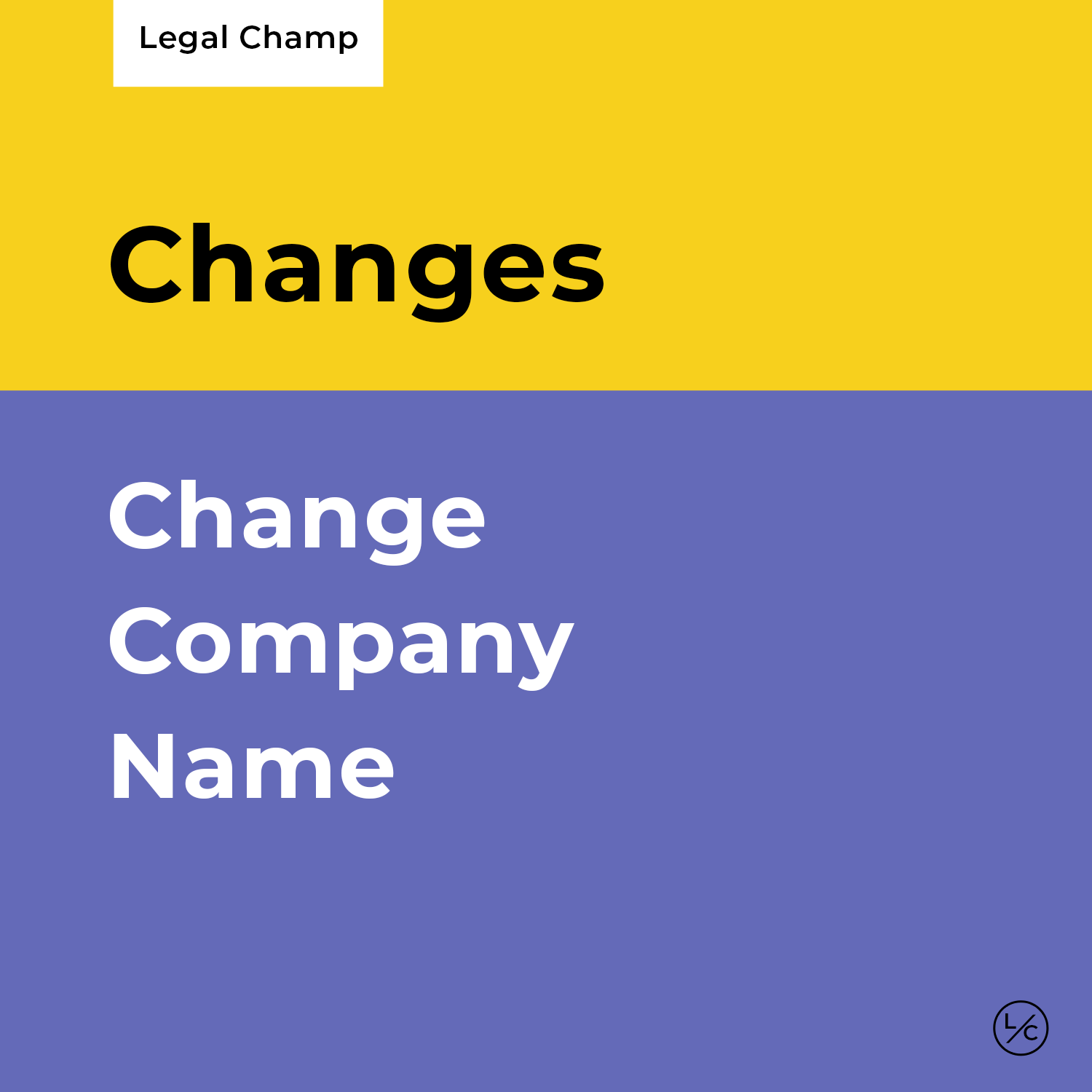 Change Company Name
