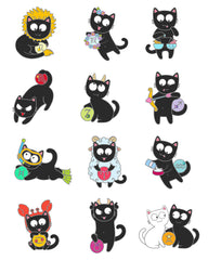 Kitty Zodiac pins