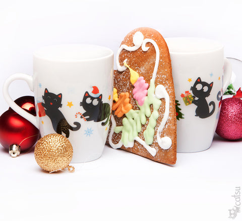 Christmas Kitty Mug