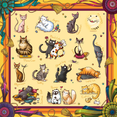 KittyScarf with Various Cat Breeds