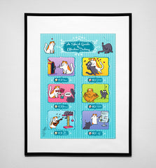 "Poster ""Cat Guide to Dating"" A3 size"