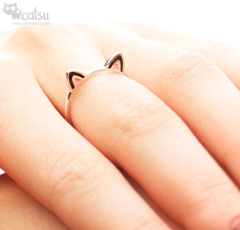"Sterling Silver ""Kitty Ears"" Ring"