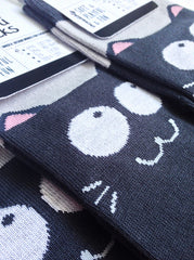 "Kitty Socks ""Smiling Cats"""
