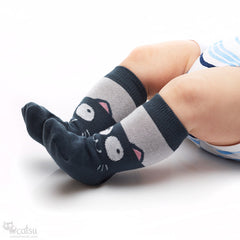 """Smiling Cats"" Socks for Babies and Kids"