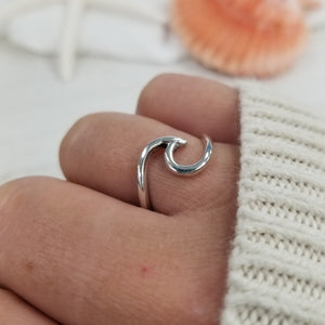 One Of A Kind Large Sterling Silver Wave Ring