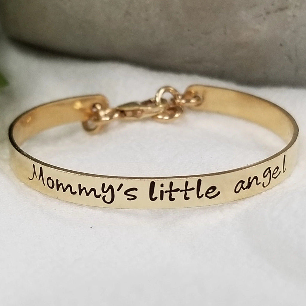 Baby Custom Cuff Bracelet - Sterling, Gold, or Rose Gold