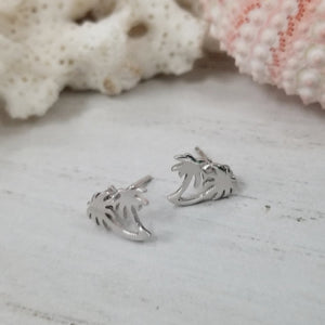 Beach Style Sterling Studs - Sea Turtle, Wave, Pineapple, Sand Dollar or Palm Tree