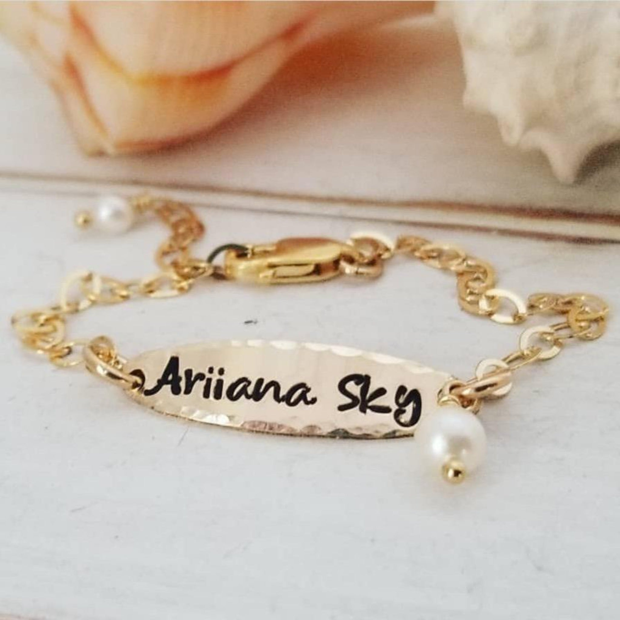 Baby ID or Name Bracelet - Sterling or Gold