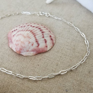 Chain Link Anklet - Sterling Silver