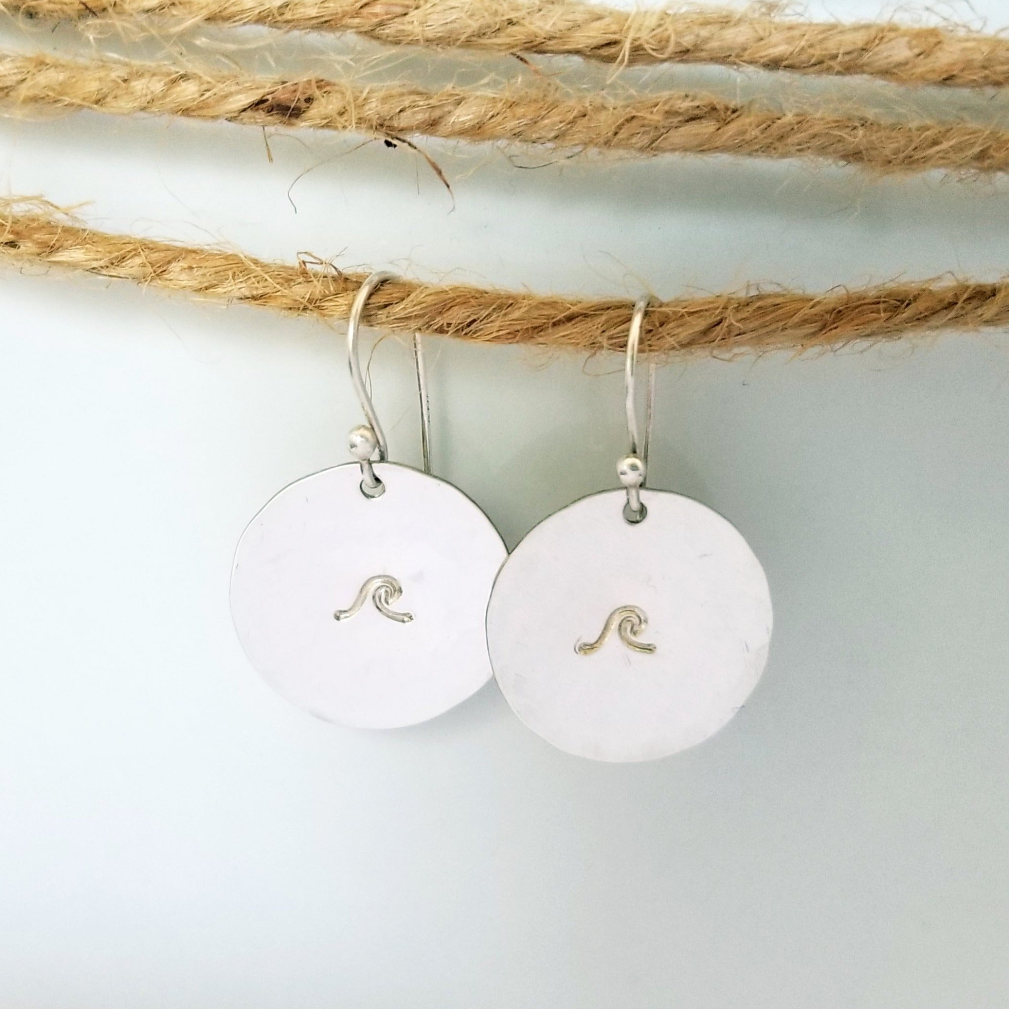 Coin Disc Earrings - Sterling, Gold, or Rose Gold