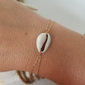 Conch Shell Chain Bracelet - Sterling, Gold, or Rose Gold