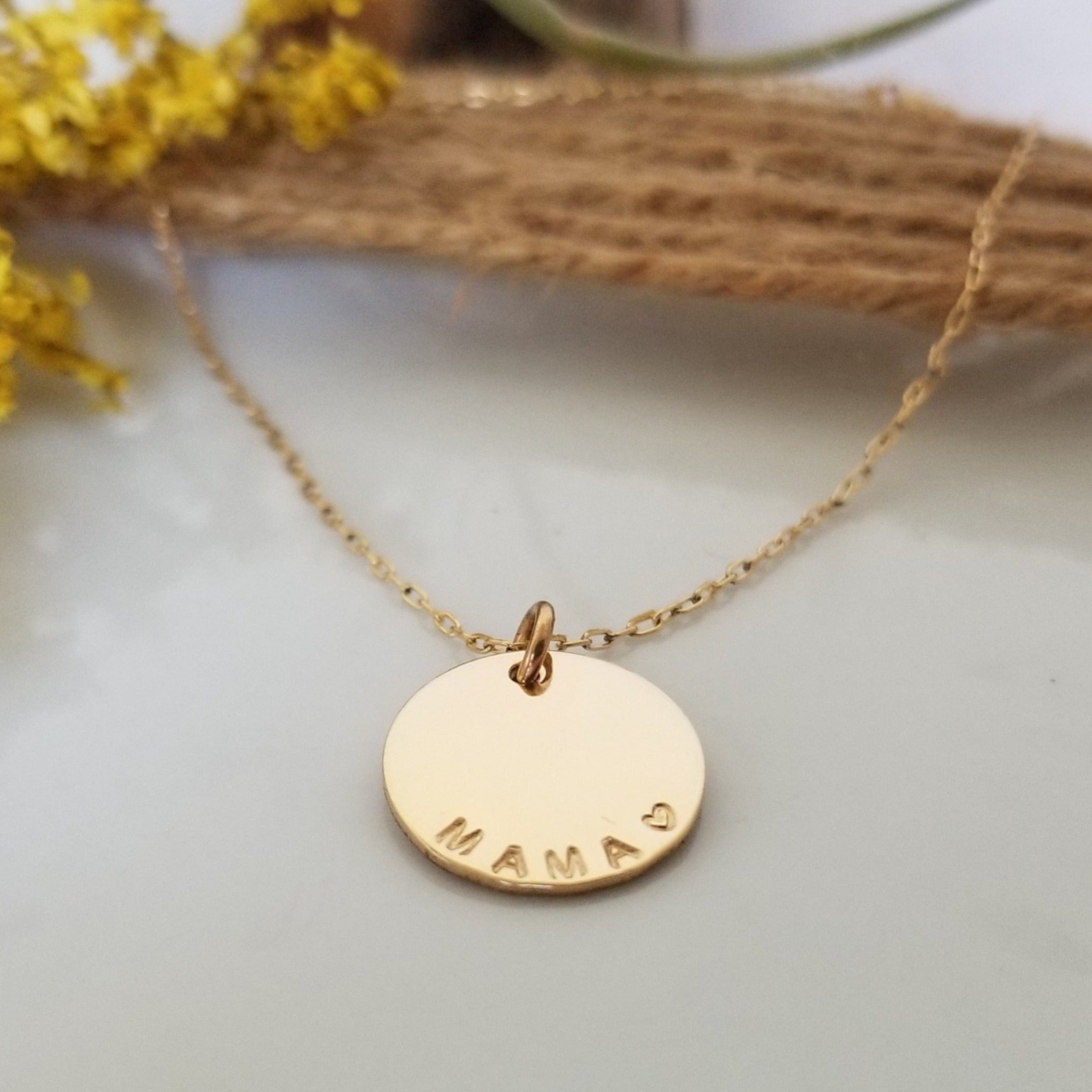 Custom Medium Initial Necklace - 5/8 Inch - Sterling, Gold, or Rose Gold