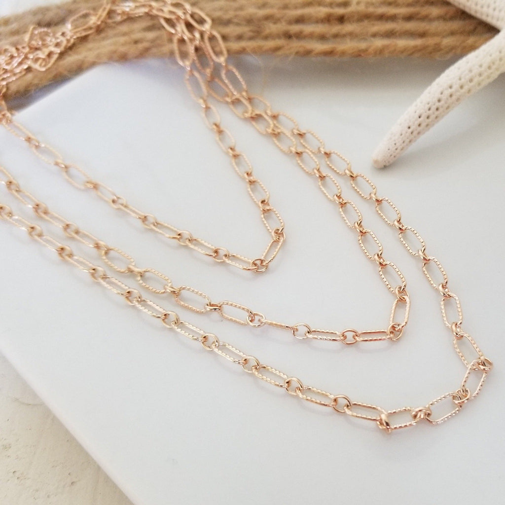 Add On Layering Necklace - Rose Gold
