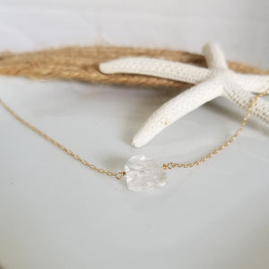 Herkimer Diamond Quartz Layering Necklace - Sterling or Gold