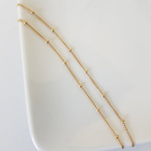 Gold Chain Stacking Bracelet - Figaro, Satellite, or Sequin