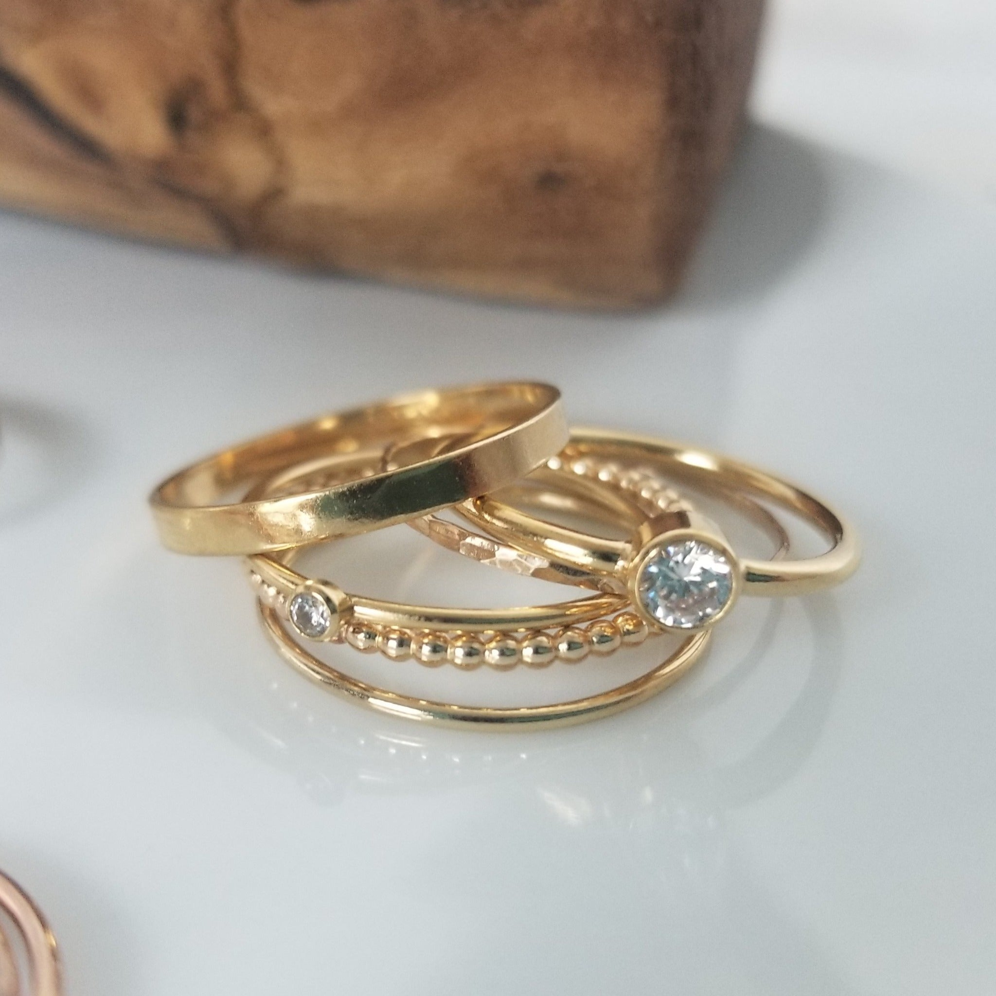 Thin Stacking or Midi Ring - Sterling, Gold, or Rose Gold