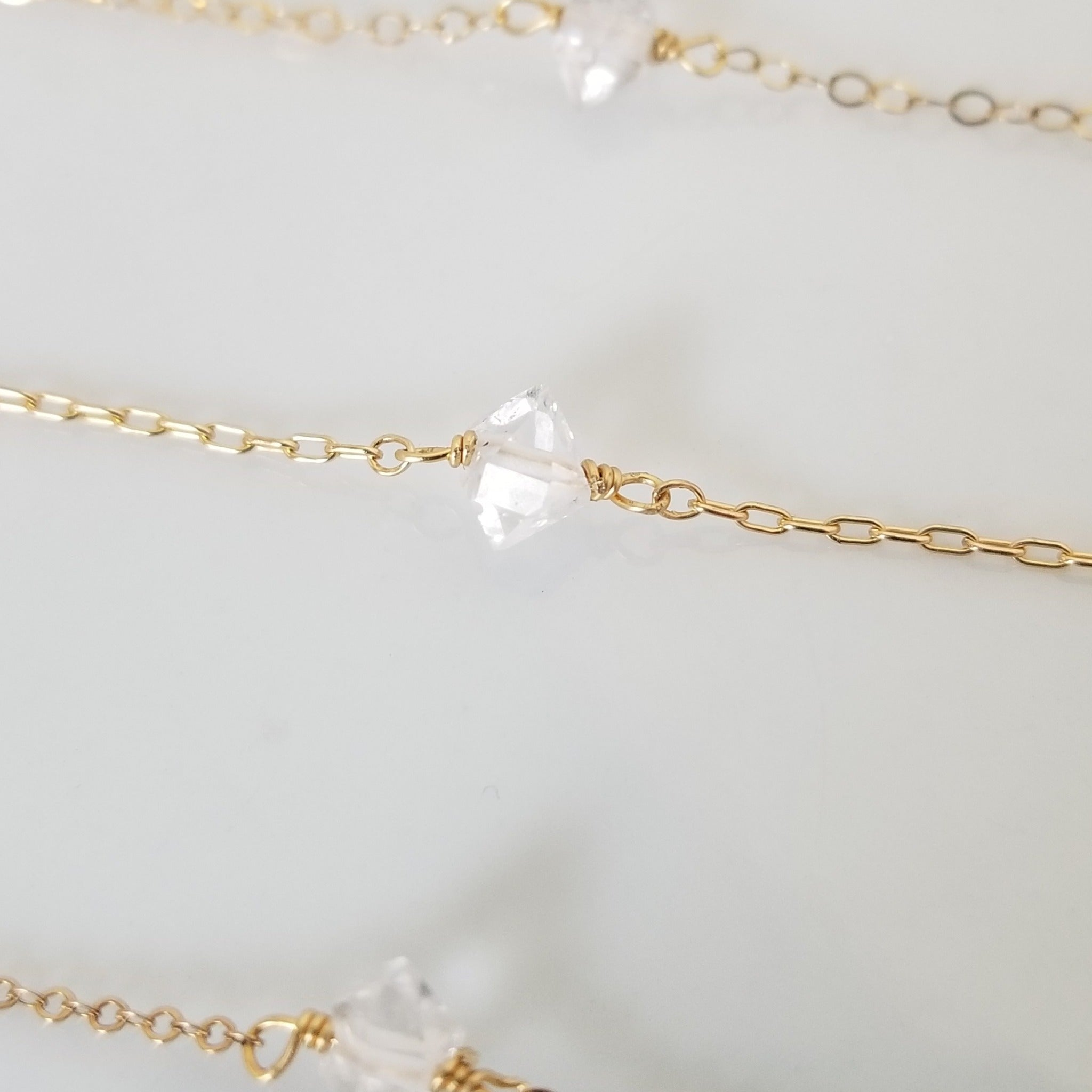 Herkimer Mini Diamond Necklace - Sterling, Gold or Rose Gold