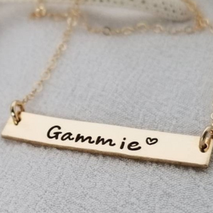 "The ""Presley"" - Gold or Rose Gold Name Bar Necklace"