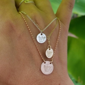 Shaka Hang Loose Hand Gesture Necklace - Sterling, Gold or Rose Gold