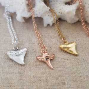 Dainty Shark Tooth Layering Necklace - Sterling, Gold or Rose Gold