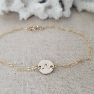 Custom Design Disc Chain Anklet - Sterling, Gold, or Rose Gold