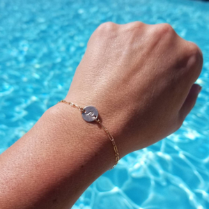 Custom Wave Disc Bracelet - Sterling, Gold, or Rose Gold