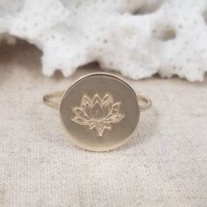 Custom Design Round Disc Ring - Sterling, Gold, or Rose Gold