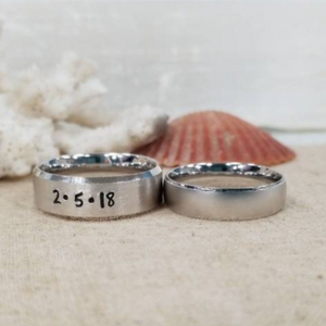 Men's Personalized Ring - Sterling Silver