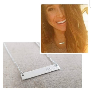 Sterling Silver Name Bar Necklace