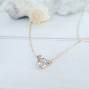 Lariat Crystal Drop Necklace - Y Necklace - Sterling or Gold