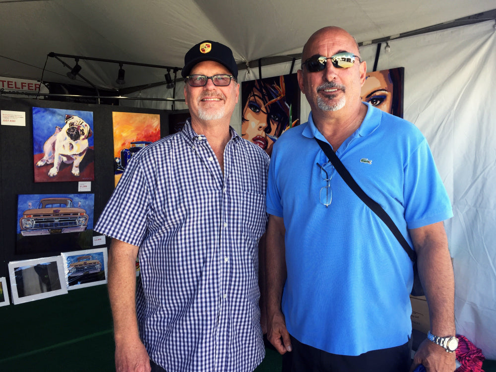 Bobby Rahal, 3 time Indycar and Indy 500 champion and artist Kelly Telfer