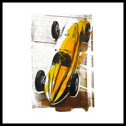 '1930's Mercedes Grand Prix' Vintage Race Car Fine Art Prints