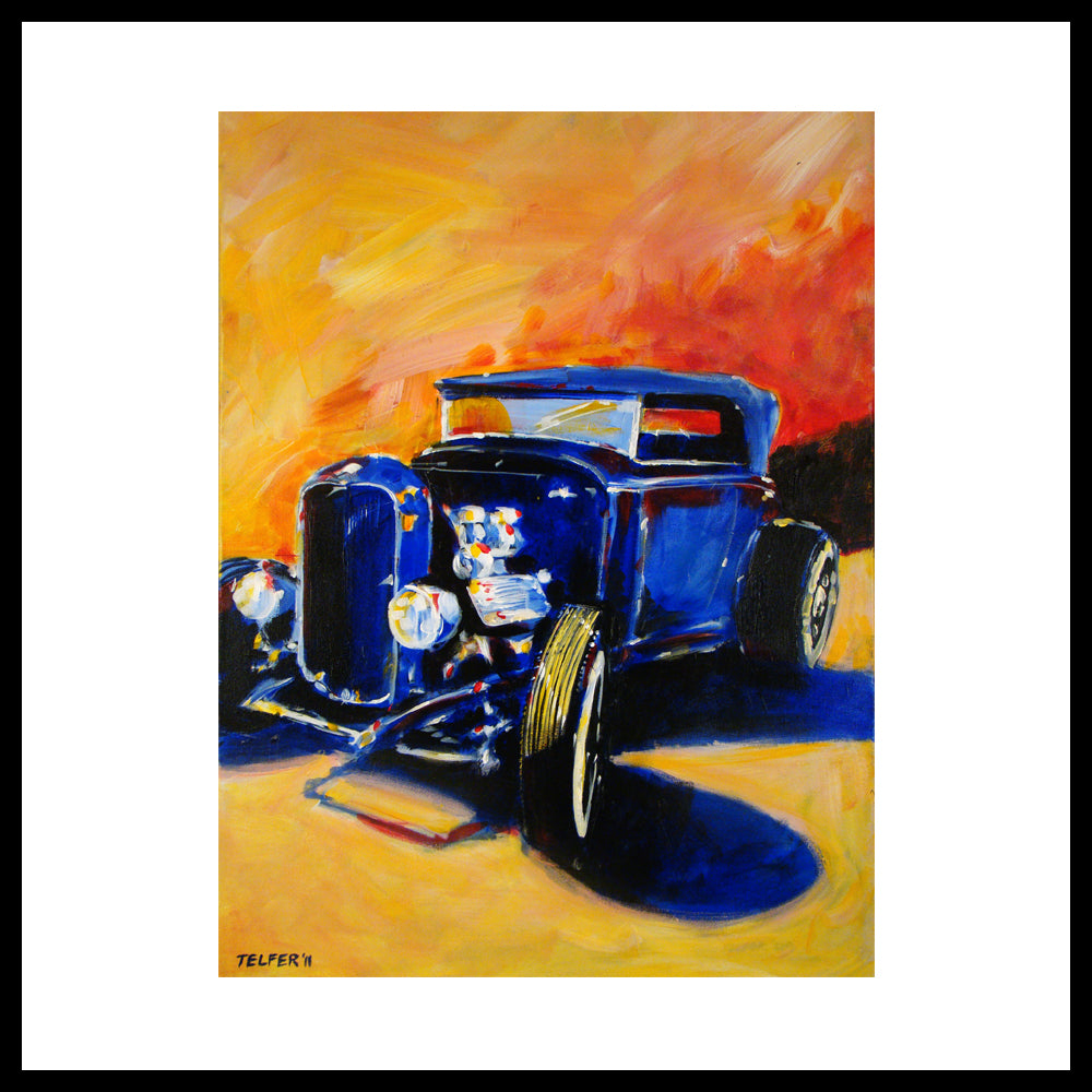 "'32 Ford Flathead', 36"" x 24"", Acrylic on Canvas, Call for Price"