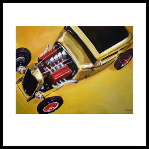 '32 Ford with Red Valve Covers' Street Rod, Hot Rod Fine Art Prints