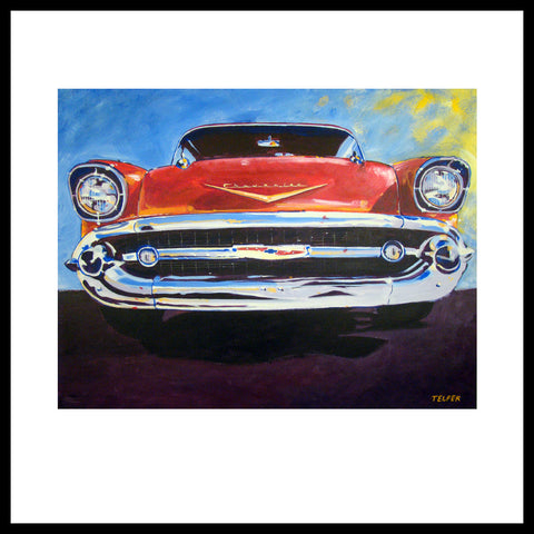 '57 Chevy Grill' Classic Bel Air Fine Art Prints