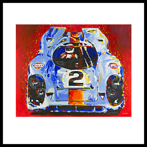 "'Porsche Daytona Champion 917', 48"" x 60"", Acrylic on Canvas"