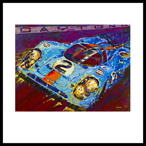 "'Porsche Daytona Champion 917 at Night', 36"" x 48"",  Acrylic on Canvas, Call for Price"