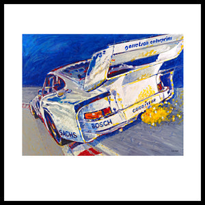 'Canepa Attacking the Corkscrew (935 Porsche)' Fine Art Prints
