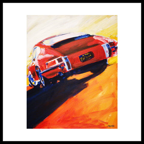 'Red Early Porsche 911' Fine Art Prints