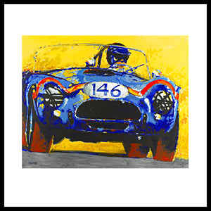 "'FIA Cobra' Shelby Vintage Racing Original Art, 48"" x 60"", Acrylic on Canvas, Call for Price"