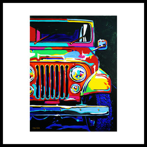 'Jeep High-5 Fun!' Bigger, Bolder Fine Art Prints