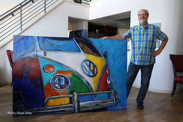 "'I had One of Those- VW Bus' 48"" x 72"", Acrylic on Canvas"