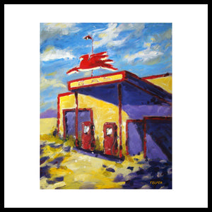 'Flying Horse Gas' 1950's Mobil Gas Station Fine Art Prints
