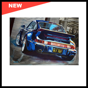 "NEW! 'The Ultimate Toy: 964 Porsche 3.6 Turbo', 48"" x 72"", Acrylic on Canvas"